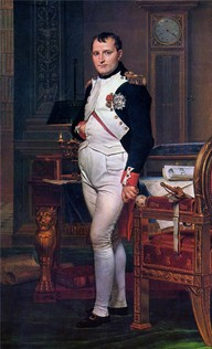 Napoleon Bonaparte in his Study at the Tuileries     Artist: Jacques-Louis David  Completion Date: 1812